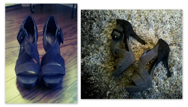 nine west high heeled sandals