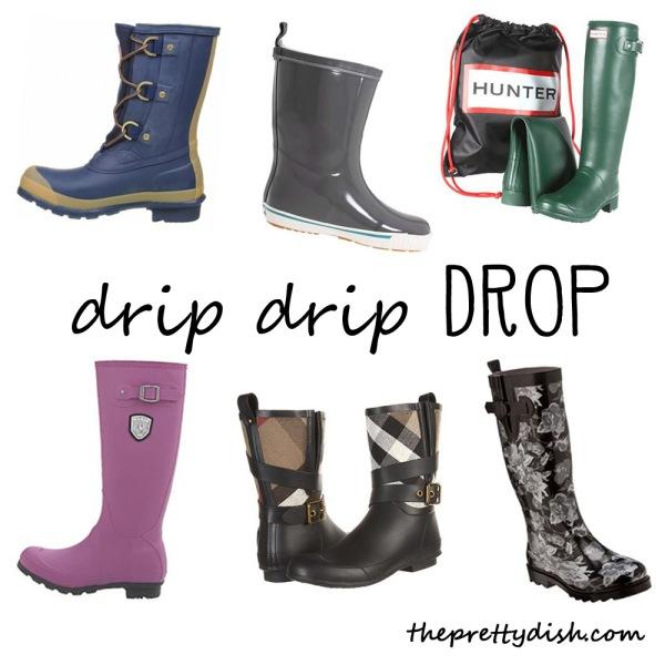 rain boot collage