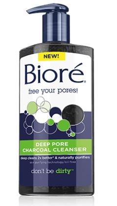 biore charcoal cleanser