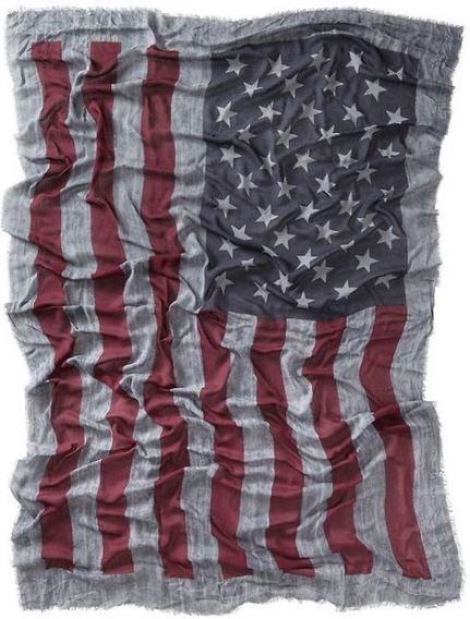 old navy flag scarf